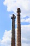 La cheminée industrielle Images libres de droits