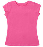 La chemise des femmes d'isolement sur le fond blanc Image libre de droits