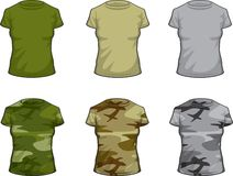 La chemise militaire des dames Photos libres de droits
