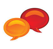 La chiacchierata bolle icona Fotografia Stock Libera da Diritti