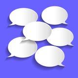 La chiacchierata di carta bolle illustrazione illustrazione vettoriale