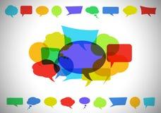 La chiacchierata variopinta bolle composizione Immagine Stock Libera da Diritti