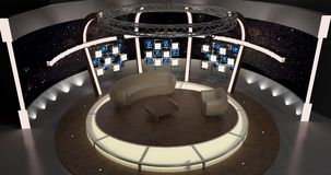 La chiacchierata virtuale della TV ha messo 20 Immagini Stock