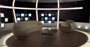La chiacchierata virtuale della TV ha messo 20 Immagine Stock