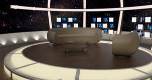 La chiacchierata virtuale della TV ha messo 20 Immagine Stock Libera da Diritti