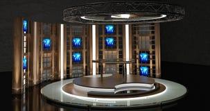 La chiacchierata virtuale della TV ha messo 17 Immagini Stock Libere da Diritti