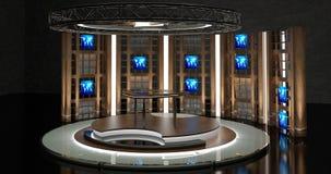 La chiacchierata virtuale della TV ha messo 17 Immagine Stock Libera da Diritti