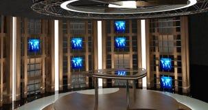 La chiacchierata virtuale della TV ha messo 17 Fotografia Stock