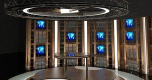 La chiacchierata virtuale della TV ha messo 17 Fotografia Stock Libera da Diritti
