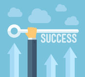 La chiave al concetto dell'illustrazione di successo Fotografia Stock