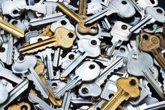 La chiave chiude a chiave il fondo Fotografie Stock Libere da Diritti