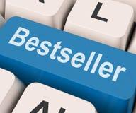 La chiave del bestseller mostra il best-seller o stimato Fotografia Stock Libera da Diritti