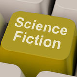 La chiave della fantascienza mostra i libri ed i film di Sci Fi Immagine Stock Libera da Diritti