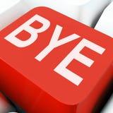 La chiave di arrivederci significa l'addio o la partenza immagini stock
