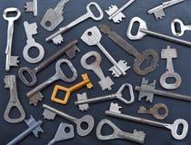 La chiave dorata Immagini Stock