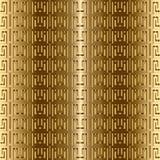 La chiave greca serpeggia modello senza cuciture di vettore dell'oro 3d Orn strutturato royalty illustrazione gratis
