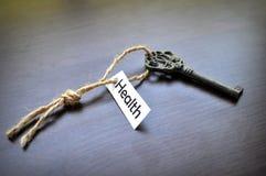 La chiave a salute Fotografie Stock Libere da Diritti