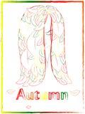 La chica joven con el pelo largo, modelo del color, las hojas crece en libre illustration