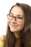 La chica joven feliz Fotografía de archivo libre de regalías