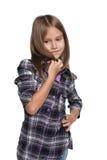 La chica joven se imagina Fotografía de archivo libre de regalías