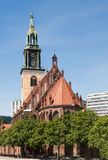 La chiesa Berlino di St Mary Immagini Stock Libere da Diritti