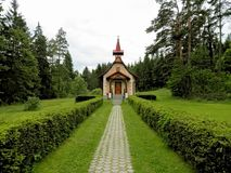 La chiesa cattolica della st Helena Poprad Slovakia Fotografia Stock Libera da Diritti