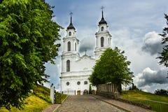 La chiesa cattolica in Ludza, Lettonia Fotografia Stock