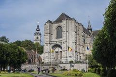 La chiesa collegiale di Sainte-Waudru, Mons Immagini Stock