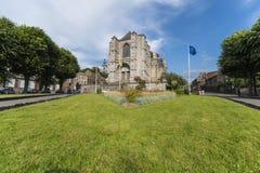 La chiesa collegiale di Sainte-Waudru a Mons, Belgio Immagine Stock Libera da Diritti