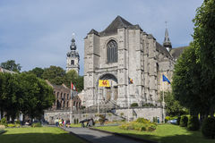 La chiesa collegiale di Sainte-Waudru a Mons, Belgio Fotografia Stock