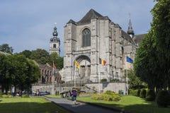 La chiesa collegiale di Sainte-Waudru a Mons, Belgio Immagine Stock