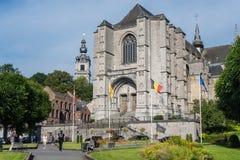 La chiesa collegiale di Sainte-Waudru a Mons, Belgio Immagini Stock Libere da Diritti