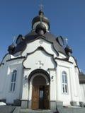 La chiesa con la cupola nera immagine stock libera da diritti