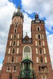 La chiesa Cracovia di Maria santo Fotografia Stock Libera da Diritti