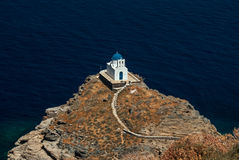 La chiesa dei sette martiri su Sifnos Cicladi Fotografie Stock