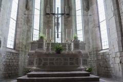 La chiesa del ` Andrea Apostle di Sant in Venzone Immagine Stock