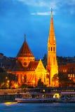 La chiesa del calvinista del centro urbano di Budapest Fotografia Stock