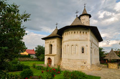 La chiesa del figlio di un principe in Suceava, Romania fotografia stock libera da diritti