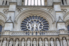 La chiesa del Notre Dame de Parigi Elementi della decorazione Parigi, Francia Immagine Stock Libera da Diritti