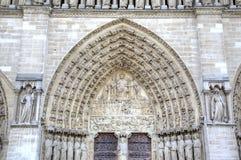 La chiesa del Notre Dame de Parigi Elementi della decorazione Parigi, Francia Fotografia Stock
