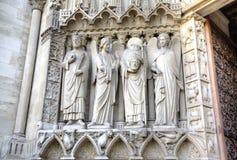 La chiesa del Notre Dame de Parigi Elementi della decorazione Parigi, Francia Immagine Stock