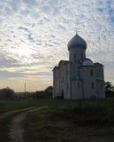 La chiesa del salvatore su Nereditsa Immagini Stock Libere da Diritti