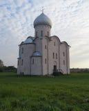 La chiesa del salvatore su Nereditsa Immagini Stock