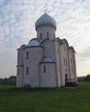 La chiesa del salvatore su Nereditsa Fotografia Stock