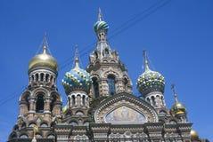 La chiesa del salvatore su sangue rovesciato a St Petersburg, Russia Fotografie Stock Libere da Diritti