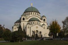 La chiesa del san Sava è una chiesa ortodossa serba situata a Belgrado È una di più grandi chiese ortodosse nel worl immagini stock