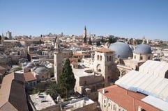 La chiesa del sepolcro santo, vecchia città Gerusalemme immagini stock libere da diritti