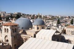 La chiesa del sepolcro santo, vecchia città Gerusalemme immagine stock