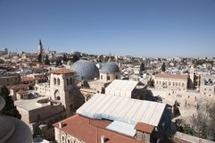 La chiesa del sepolcro santo, vecchia città Gerusalemme fotografie stock libere da diritti