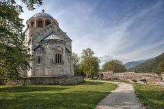 La chiesa del vergine del monastero di Studenica fotografia stock